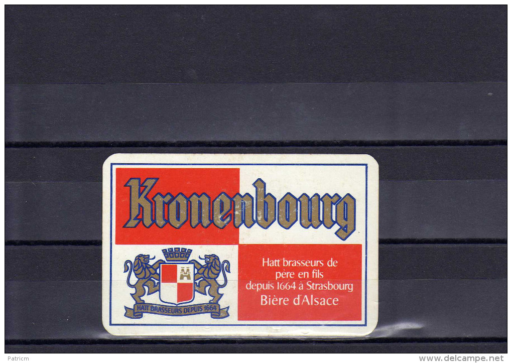 Dos D´une Carte à Jouer De La Brasserie Kronenbourg - Cartes à Jouer