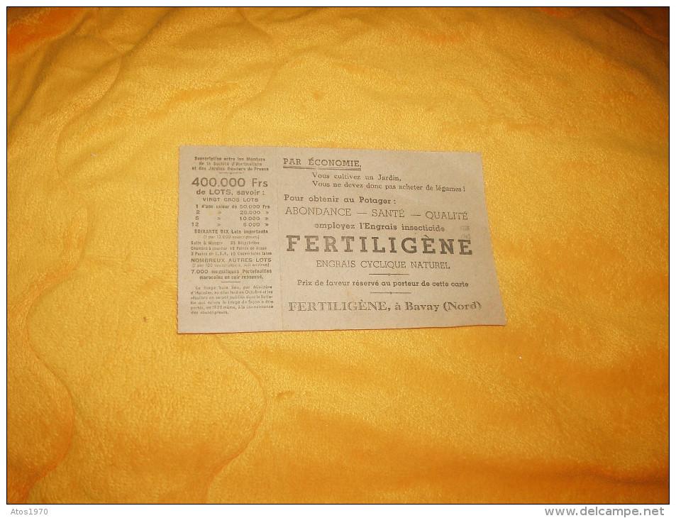 CARTE DE SOCIETAIRE N°220249 + BILLET DE SOUSCRIPTION / STE HORTICULTURE ET DES JARDINS ANNEE 1939 / LARODDE PUY DE DOME - Vieux Papiers