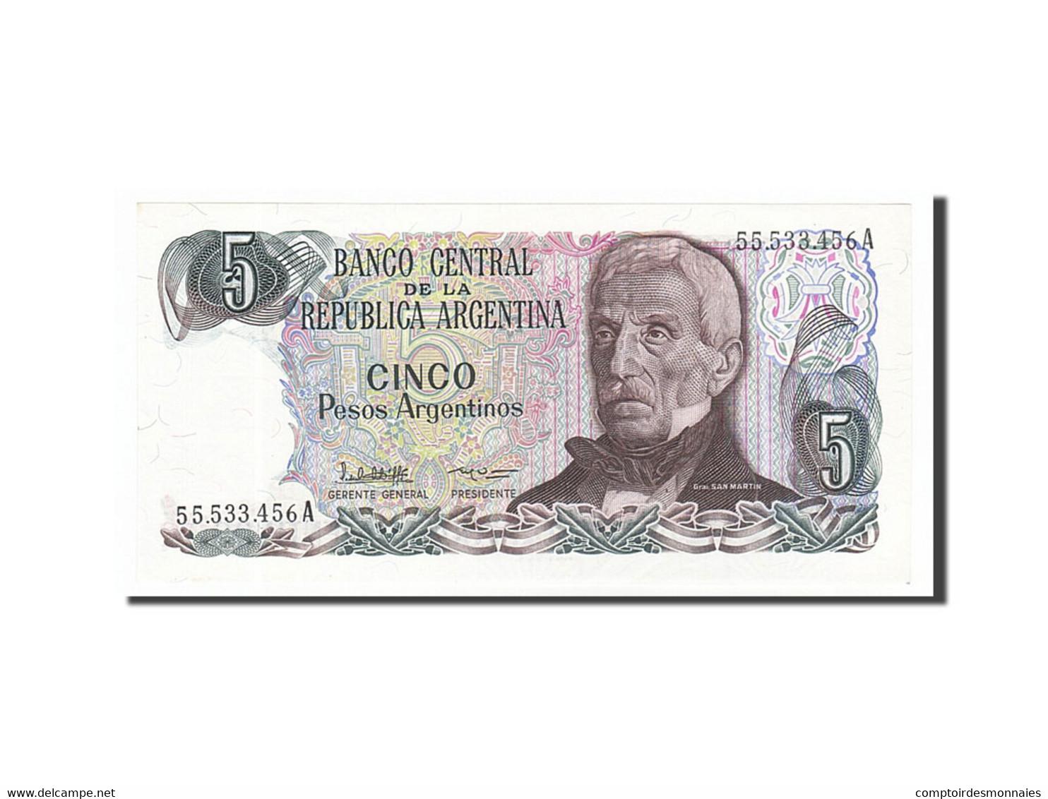 [#156753] Argentine, 5 Pesos Argentinos Type San Martin - Argentine