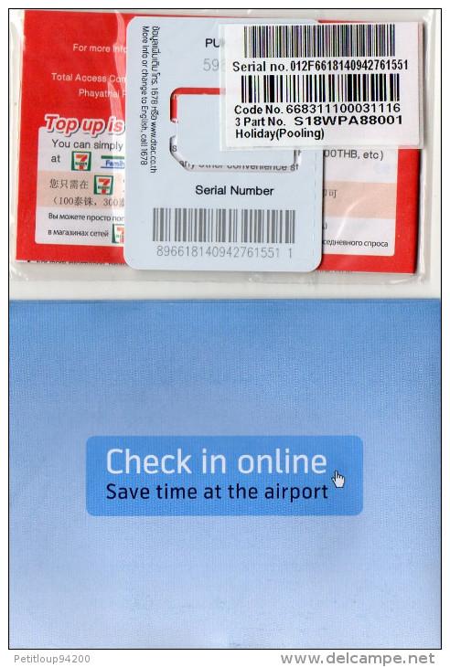 PACK CARTE GSM/SIM  THAILANDE   Happy Holiday Sim  AIR FRANCE/KLM ECHANTILLON - Thaïlande