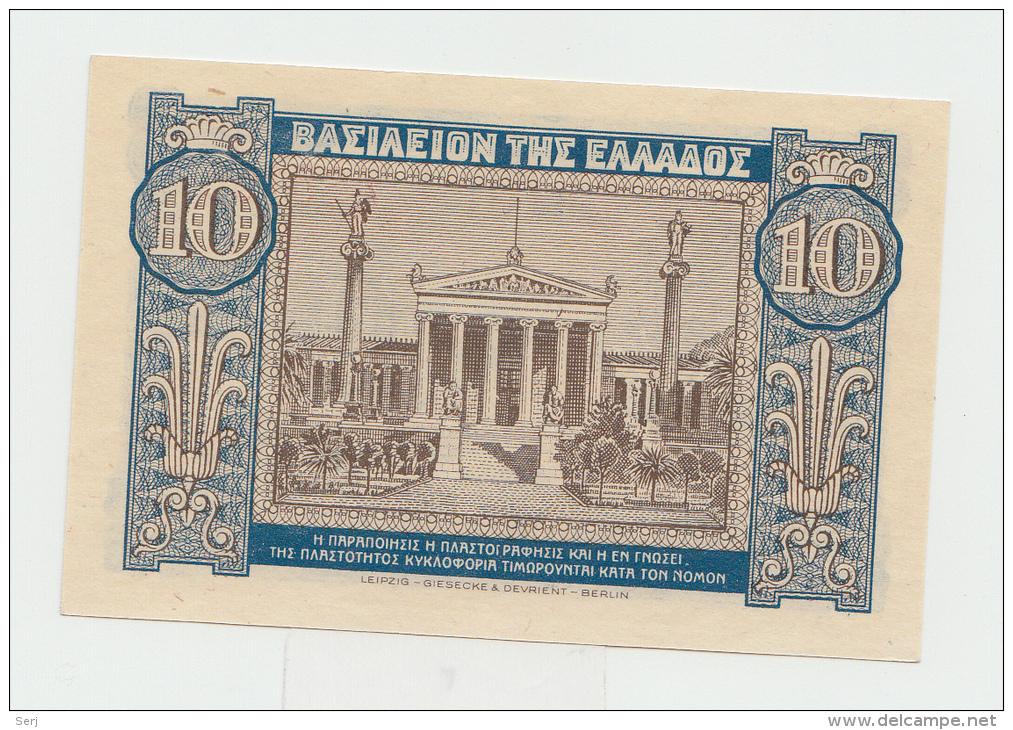 GREECE 10 DRACHMAS 1940 UNC NEUF Pick 314 - Greece