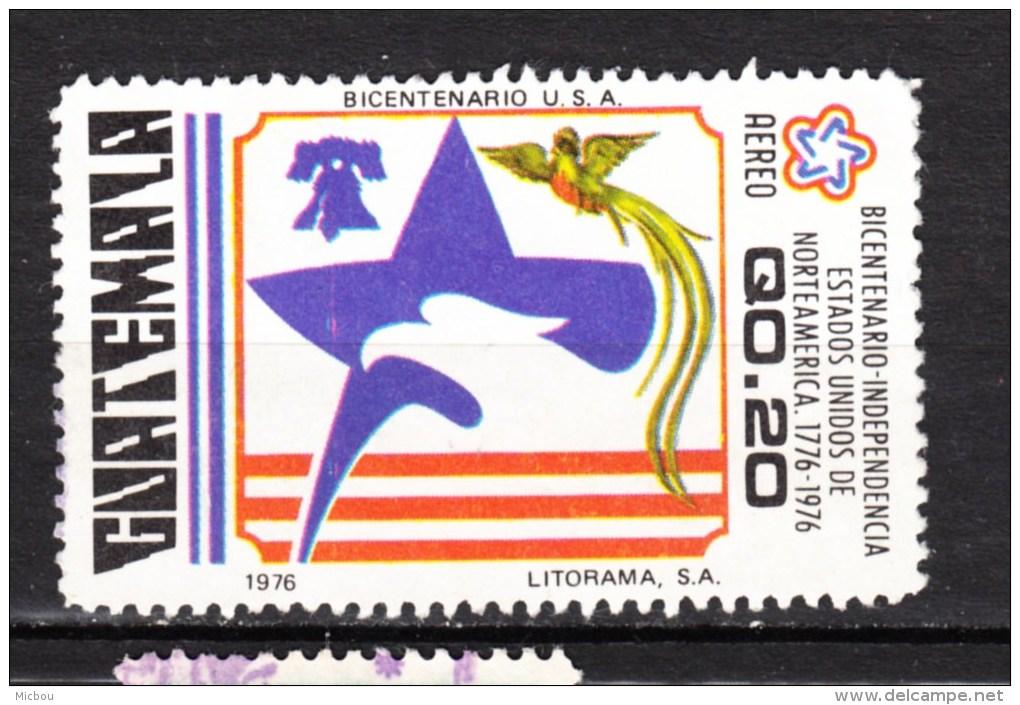 Guatemala, Indépendance USA, Independence, Cloche De La Liberté, Liberty Bell, Révolution, Aigle, Eagle, Oiseau, Bird, - Indipendenza Stati Uniti