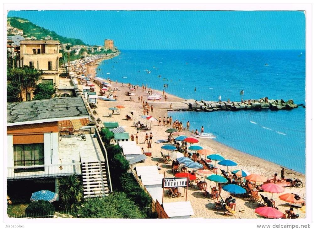 K3535 Grottammare (Ascoli Piceno) - Panorama Con La Spiaggia - Plage Beach Strand Playa / Viaggiata 1973 - Italia