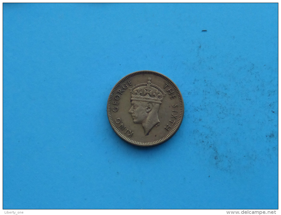 1949 - Ten Cents / KM 25 ( Uncleaned Coin / For Grade, Please See Photo ) !! - Hongkong