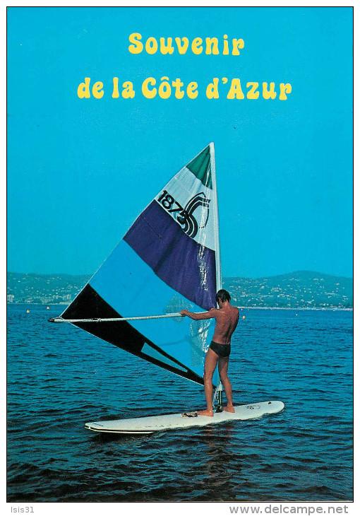 Sports - Planche à Voile - Le Windsurfing - Souvenir De La Côte D'Azur - Semi Moderne Grand Format - état - Cartes Postales