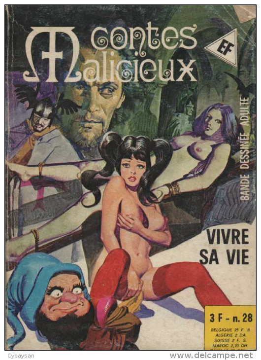 CONTES MALICIEUX  N° 28 BE ELVIFRANCE 12-1976 - Petit Format