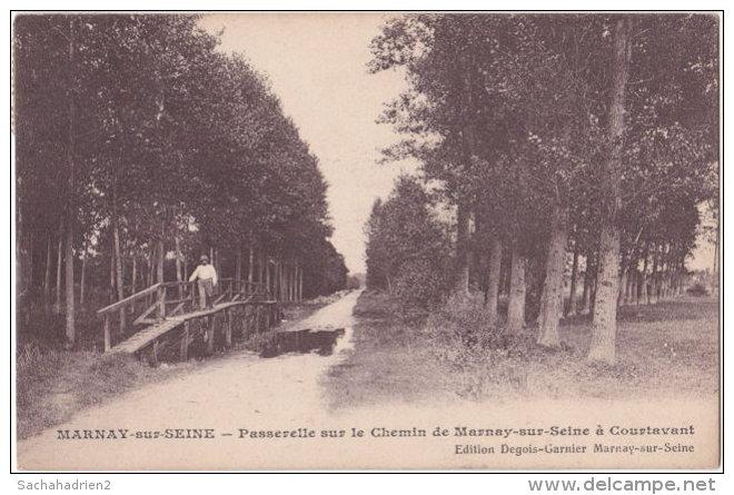 10. Passerelle Sur Le Chemin De MARNAY-SUR-SEINE à Courtavant - Autres Communes