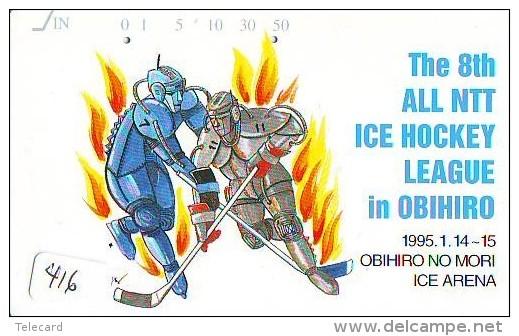 Télécarte Japon * Sport EIS ICE HOCKEY Sur Glace (416) Japan Phonecard * Telefonkarte * SCHAATSEN * SKATING * - Sport