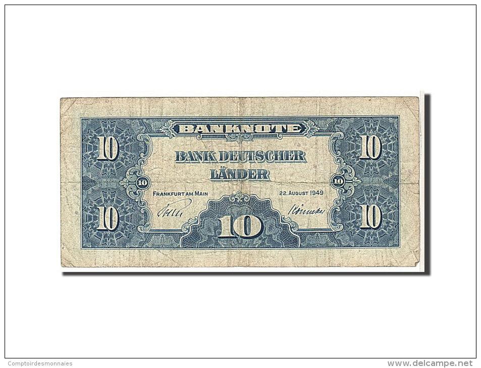[#110210] Allemagne, 10 Deutsche Mark Type 1949 - [ 7] 1949-… : RFA - Rep. Fed. Tedesca