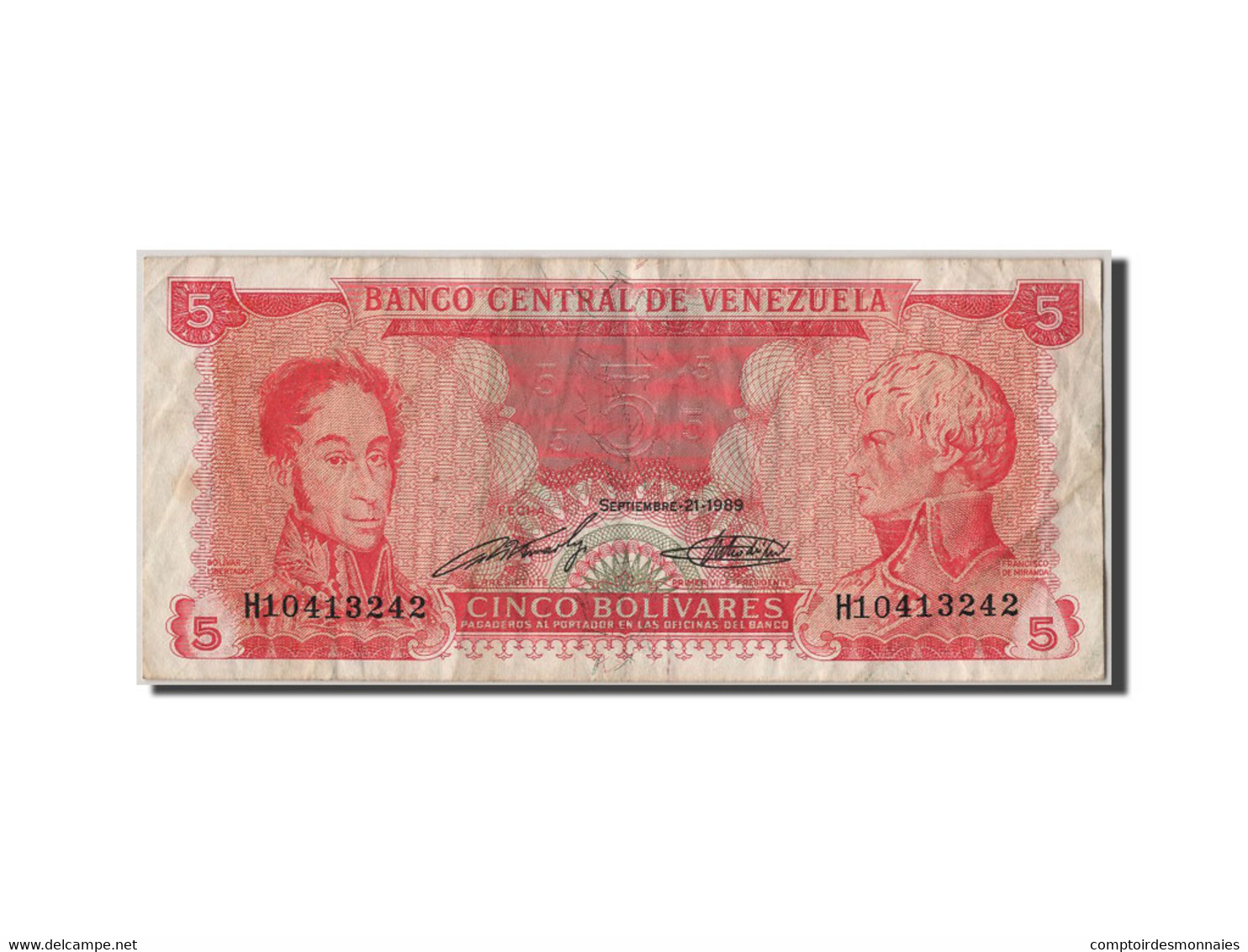 Venezuela, 15 Bolivares Type Bolivar Et De Miranda - Venezuela
