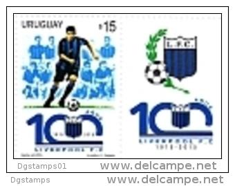 Uruguay 2015 ** Sello Con Tab.  Centenario Liverpool Futbol Club. See Description. - Uruguay