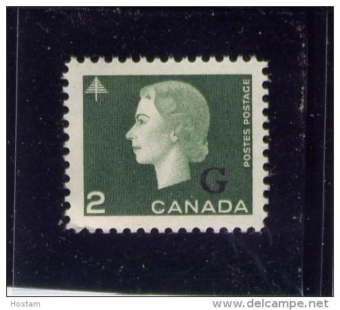 CANADA, 1963, #O47, QUEEN ELIZABETH 11, CAMEO PORTRAIT, M NH,   Single - Overprinted
