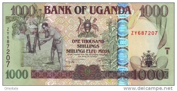 UGANDA P. 43a 1000 S 2008 UNC - Ouganda