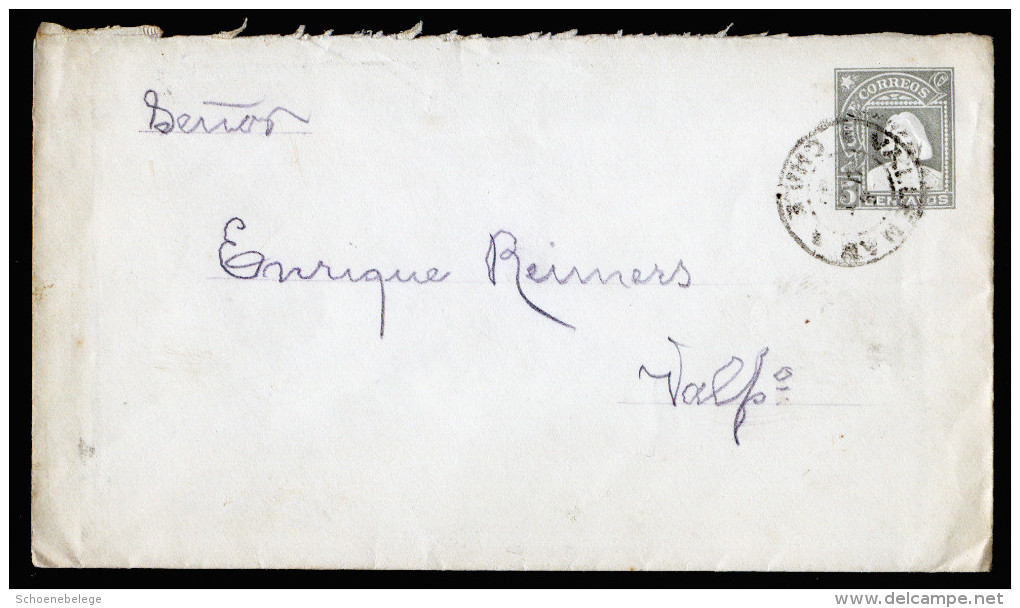 A3097) Chile Old Cover From 1907 - Chile