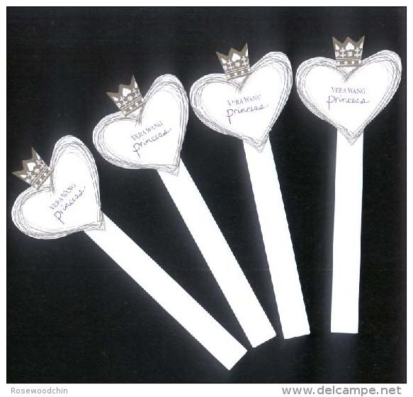 4 X Singapore Perfume Cards Cartes Parfumees --  VERA WANG PRINCESS - Perfume Cards