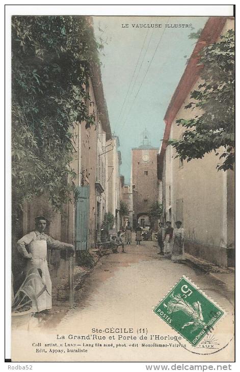 CPA - - Sainte Cécile Aux Vignes - La Grand'Rue - Porte De L'Horloge - Colorisée Animée - Frankreich