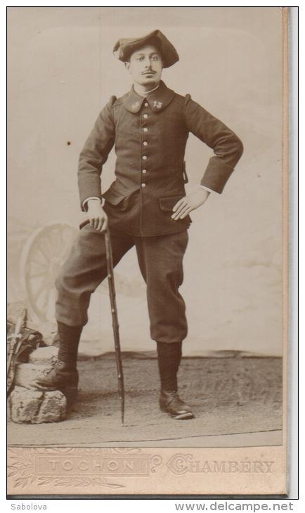 Photos Avant 1900 10,2 Par 6,2 Cm Tochon Chambéry Chasseur Alpin - Photos