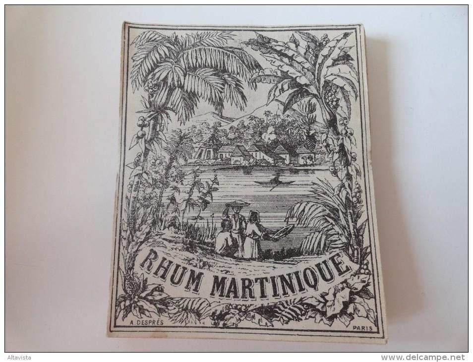 SUPERBE ILLUSTRATION SUR : RHUM MARTINIQUE( A.Desprès  Paris) 1860-1900 - Labels