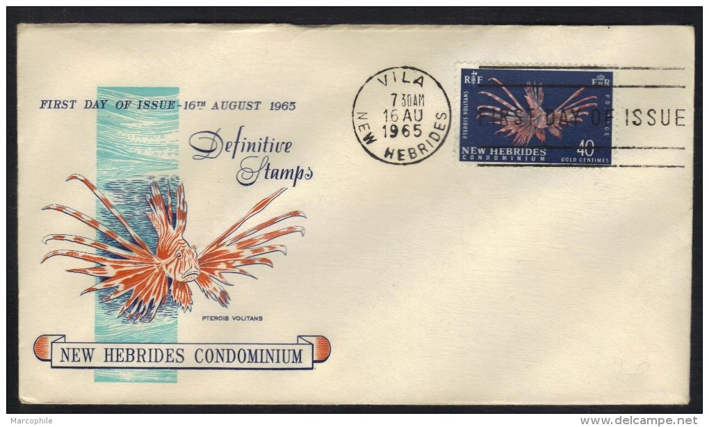 NOUVELLES HEBRIDES - NEW HEBRIDES / 1965 # 221 SUR FDC (ref 6106) - FDC