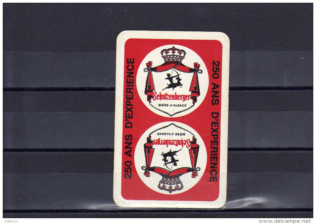 Dos D´une Carte à Jouer De La Brasserie Schutzenberger - Playing Cards