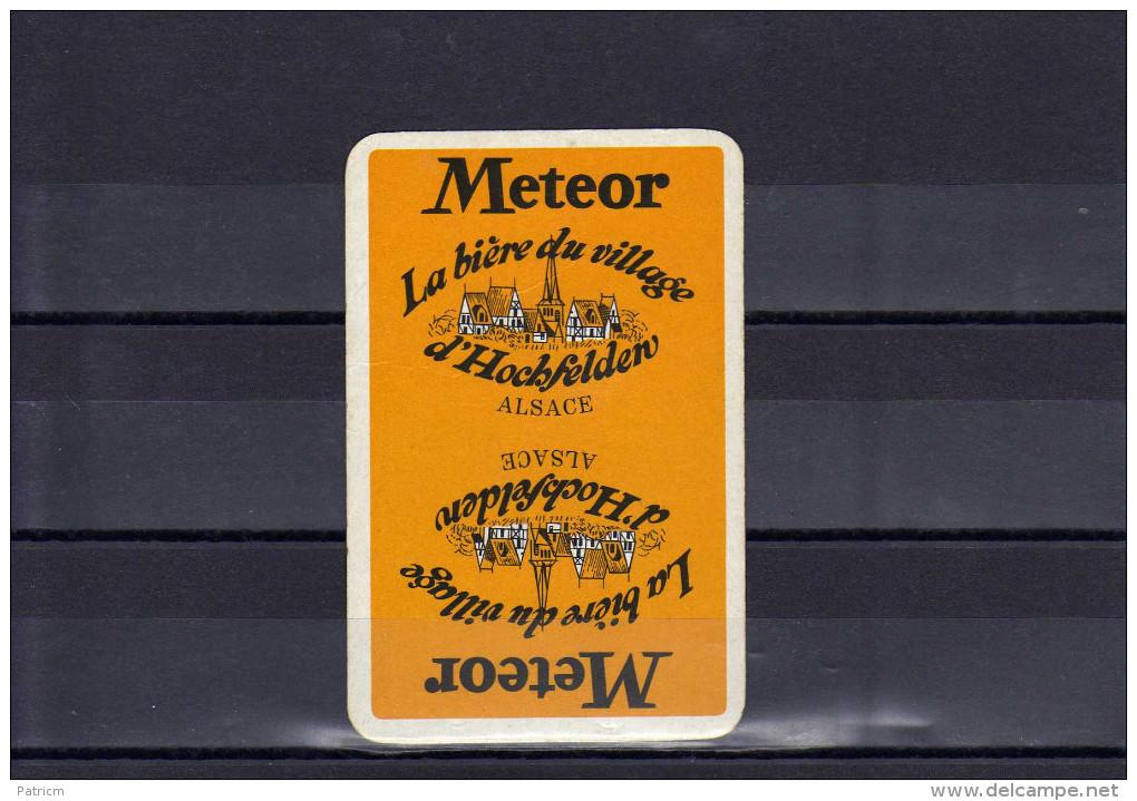 Dos D´une Carte à Jouer De La Brasserie Meteor - Cartes à Jouer