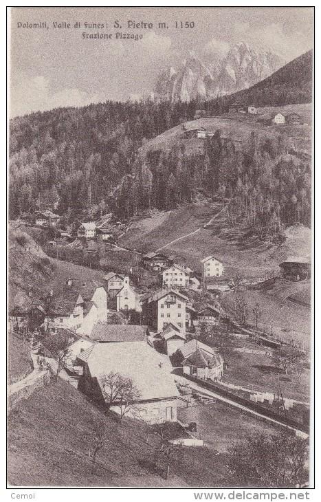 CPA - Dolomiti, Valle Di Funes : S. PIETRO - Frazione Pizzago - Otras Ciudades