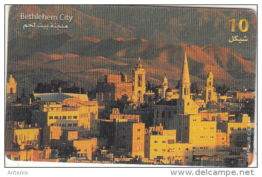 PALESTINE(chip) - Bethlehem City, 01/00, Used - Landschappen