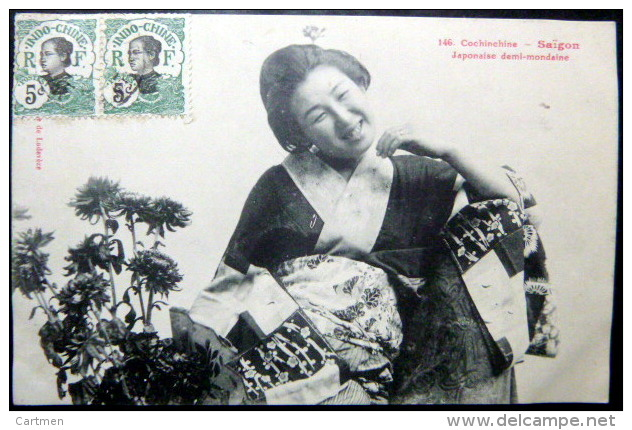 VIETNAM  INDOCHINE VIETNAM COCHINCHINE SAIGON JAPONAISE DEMI MONDAINE PROSTITUTION EROTISME GEISHA - Viêt-Nam