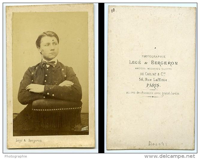 Jeune Homme Mode Paris Second Empire Ancienne Lege & Bergeron CDV Photo 1860 - Old (before 1900)