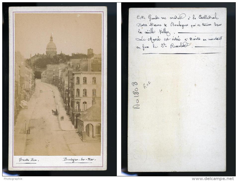 France Boulogne Sur Mer Ancienne CDV Photo Anonyme 1880 - Photos