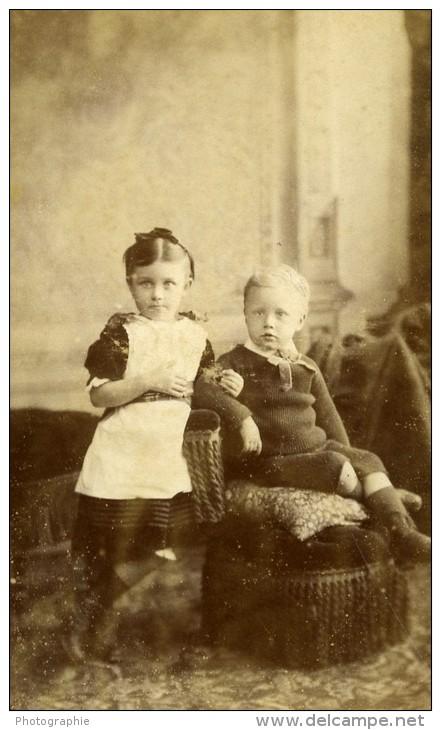 Royaume Uni Blandford Enfant Mode Victorienne Ancienne CDV Photo Nesbitt 1865 - Photographs