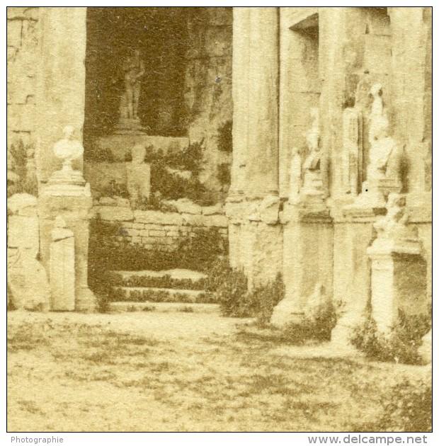 France Nimes Temple De Diane Ancienne CDV Photo 1870 - Old (before 1900)