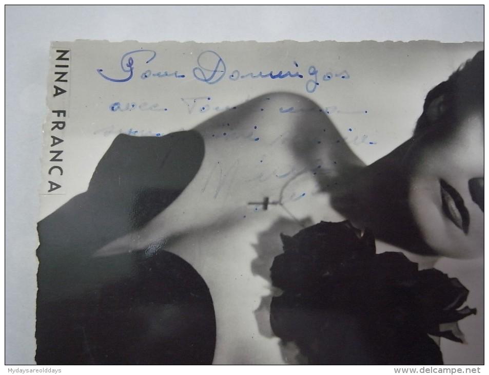 1 FOTO PHOTO - NINA FRANCA AUTOGRAPH SIGNED - Dédicacées