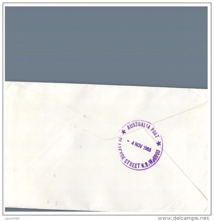 (730) Australia - Receipt Delivery Label - 1988 Cover - Australia