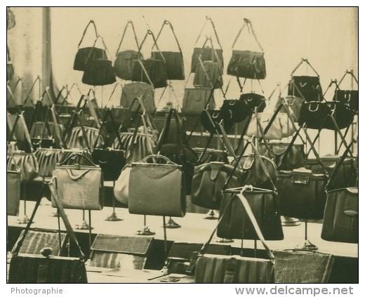 Leipzig Fair Handtasche Leather Handbag Old Photo 1930 - Leipzig