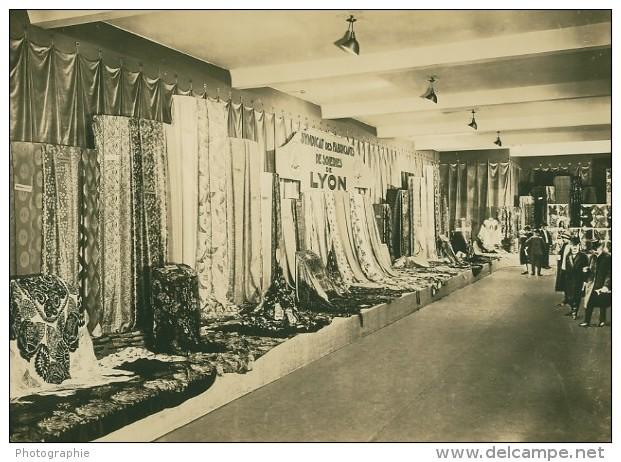 Leipzig Fair Soieries De Lyon Silk Seide Old Photo 1930 - Leipzig