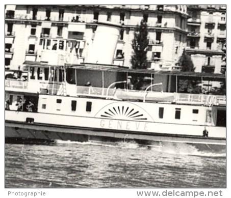 Geneve Lake Steamer Panorama Old Photo 1950' - Photographs
