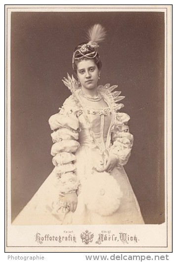 Countess Anna Strachwitz Wien Old Atelier Adele Cabinet Card Photo CC 1869 - Photographs