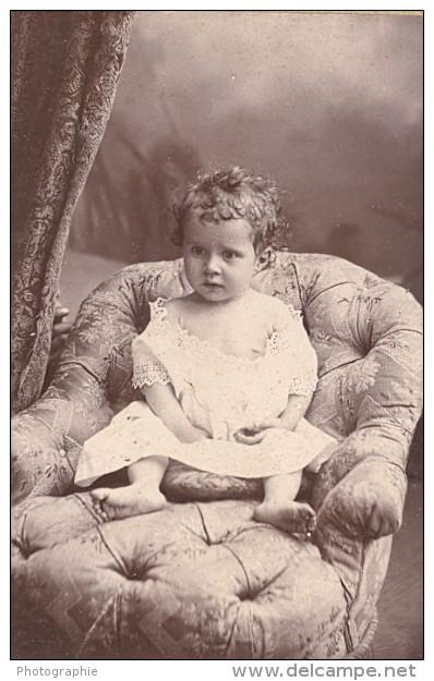 Joie De L Enfance Bebe Jeux Jouets Mode France Ancienne Photo CDV 1900 - Photographs