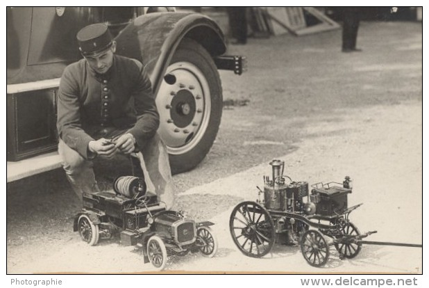 Sapeurs Pompiers Exposition Du Feu Paris France Ancienne Photo 1931 - Photographs