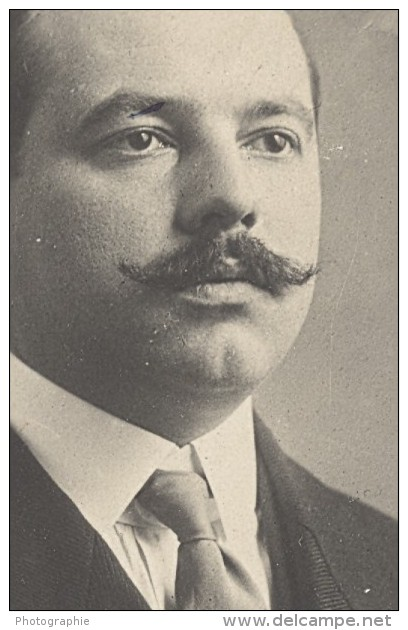 France Aviation Ingenieur Pionnier Pierre Clerget Ancienne Photo 1910 - Aviation