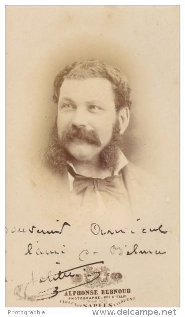 Acteur Français Second Empire Dedicace Ancienne Photo CDV 1868 - Photographs