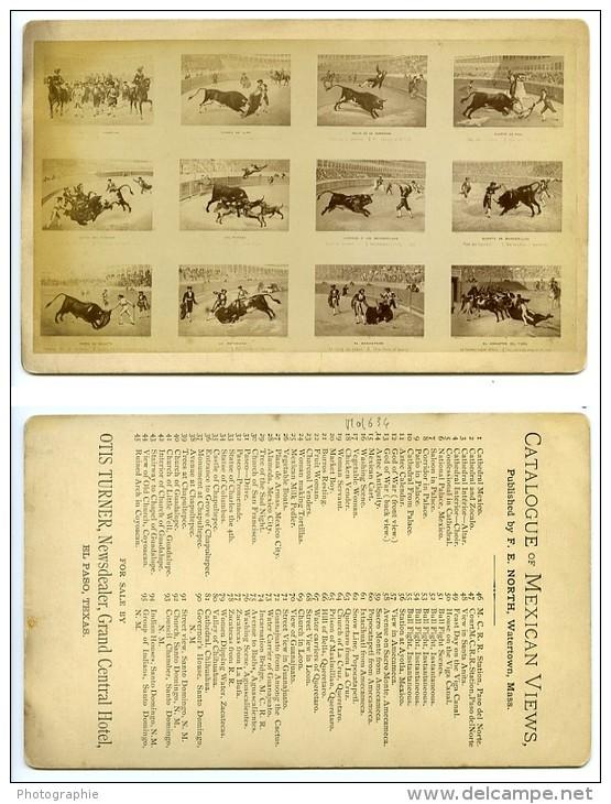 USA Corrida Copie Des Gravures De La Maison Turgis A Paris Ancienne Photo Cabinet North 1870 - Old (before 1900)