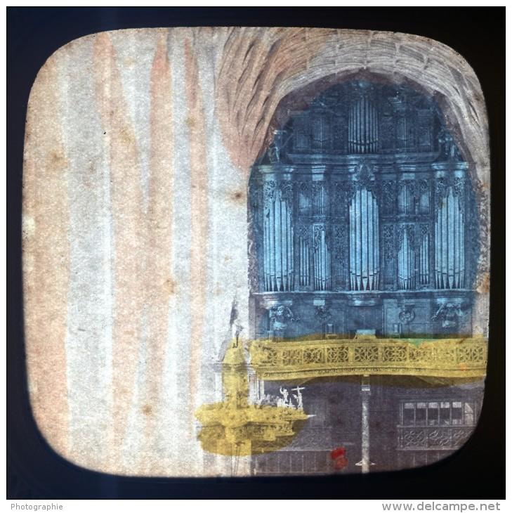 Italie Carrare Eglise Ancienne Photo Stereo Tissue 1865 - Stereoscopic