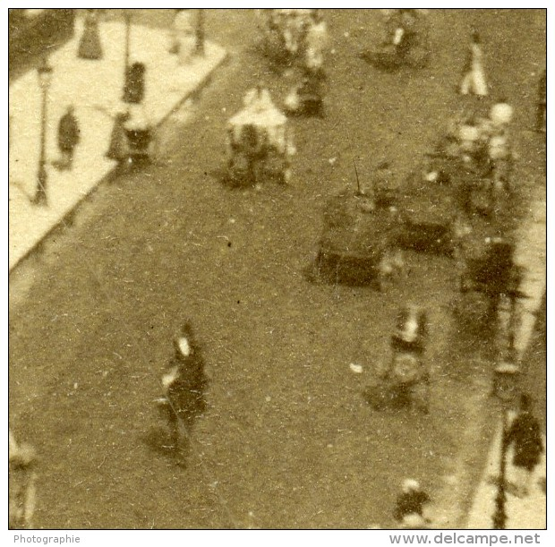 France Paris Rue De Rivoli Ancienne Stereo Photo 1875 - Stereoscopic