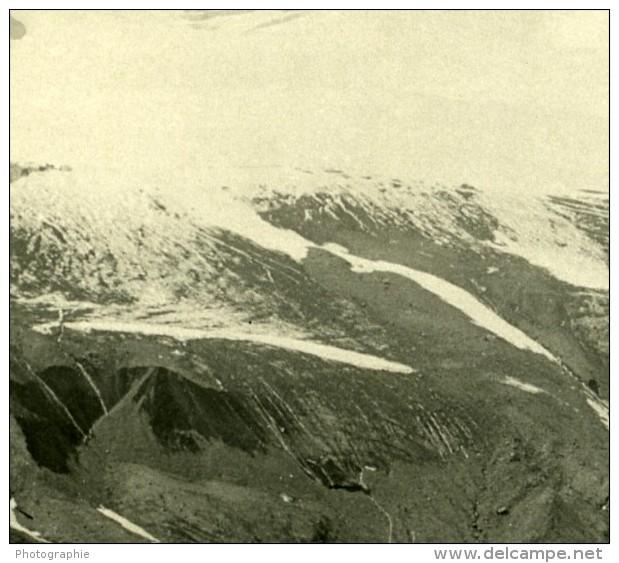 Italie Alpes Tyrol Ortier Vue Du Refuge Citta Di Milano Ancienne Stereo Photo Stereoscope NPG 1900 - Stereoscopic