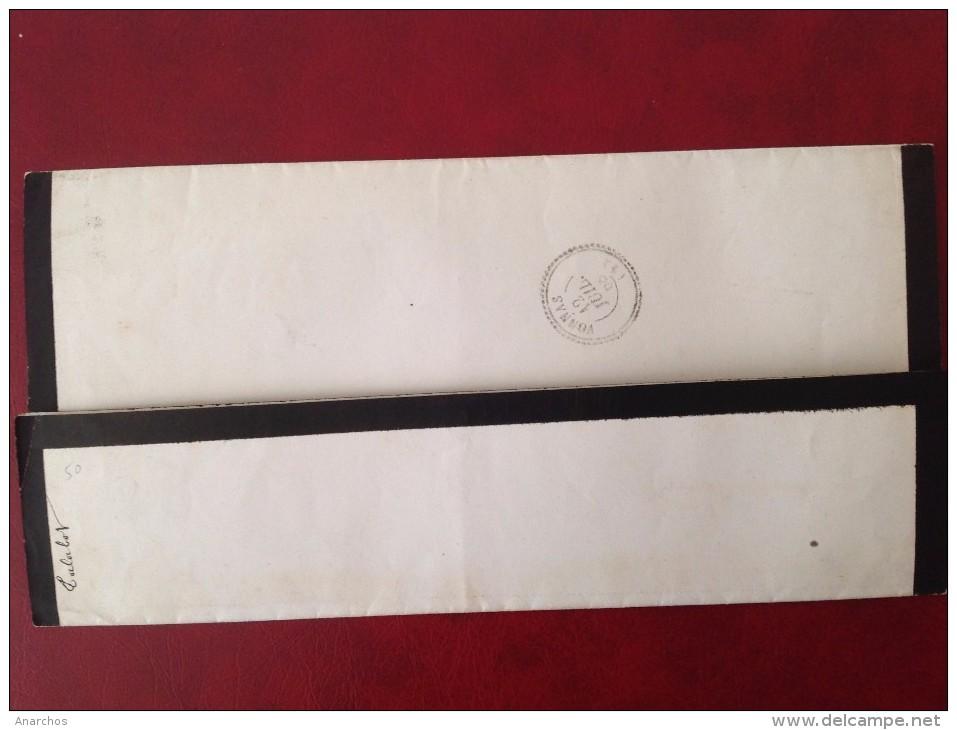 Décès Jules TALABOT Officier Supérieur En 1868 Cad BOURG EN BRESSE Et VONNAS - Marcophilie (Lettres)