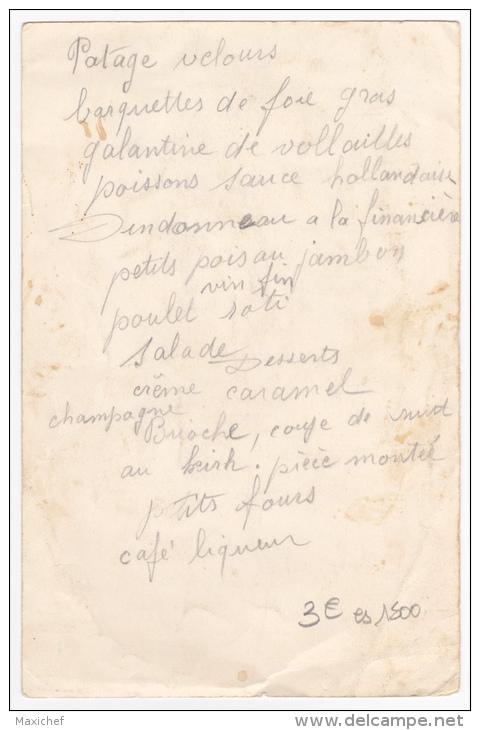 """Menu Illustré 130 X200 Mm - Saumur - Au Bon Vieux Temps - Menu Copieux Pour 1942 - Publicité """"Gratien & Meyer"""" - Menus"""
