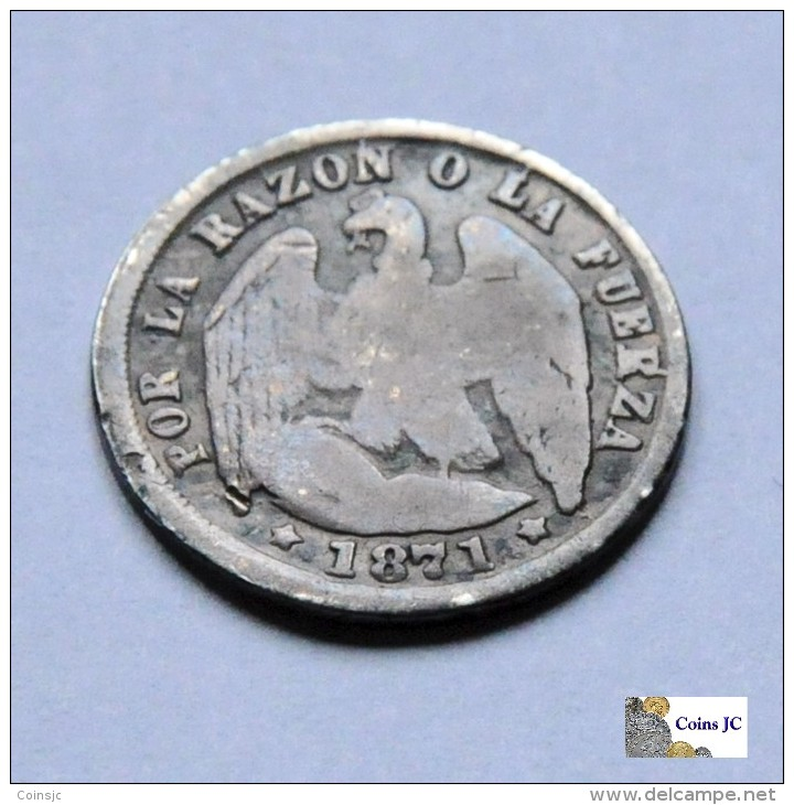 Chile - 1/2 Décimo - 1871 - Chile