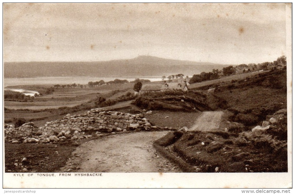 KYLE OF TONGUE FROM HYSHBACKIE - WITH LAIRG POSTMARK - NORTH COAST OF CAITHNESS - Caithness
